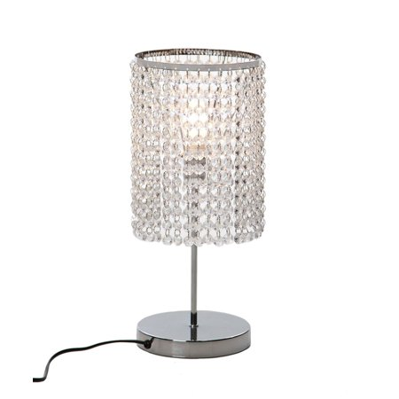 Stacked Crystal Table Lamp - Surpars House Elegant Crystal Silver Table Lamp