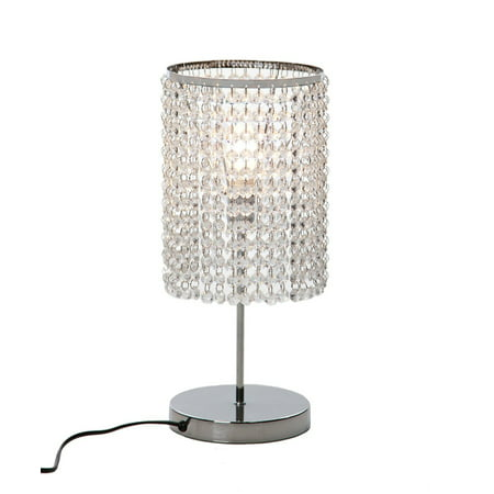 German Crystal Lamp - Surpars House Elegant Crystal Silver Table Lamp