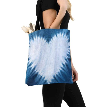 HATIART Heart Tie Dye Pattern Reusable Grocery Bags Shopping Bag Canvas Tote Bag Shoulder Bag - image 1 of 3