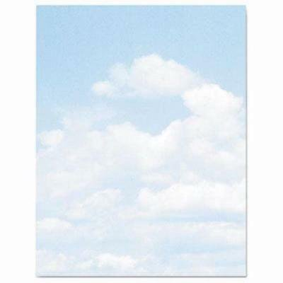 Geographics Design Paper, Clouds, 8-1/2 x 11, Blue/White, 100 - Cloud Paper
