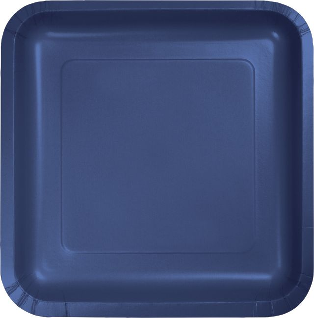 "Touch of Color Dinner Plate, Square, 9"", Navy, 18 Ct"