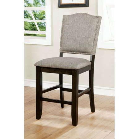 Incredible Furniture Of America Carter Gray Nailhead Trim Faux Linen Dining Chair Set Of 2 Short Links Chair Design For Home Short Linksinfo