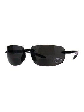 5233c3896ee Product Image Mens Rimless Warp Sport Sunglasses With Bifocal Reading Lenses  Tortoise Brown 1.0. SA106