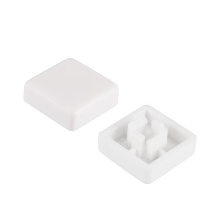 20Pcs Plastic 12x12mm Pushbutton Tactile Switch Caps Cover Keycaps White for 12x12x7.3mm Tact Switch - image 1 de 3