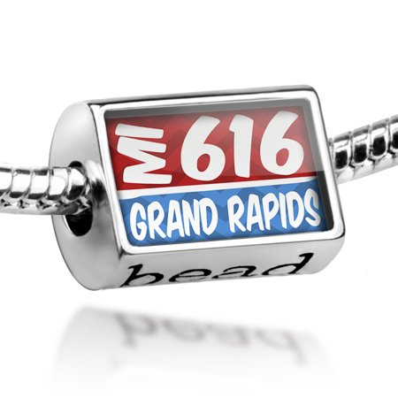 Bead 616 Grand Rapids, MI red/blue Charm Fits All European Bracelets - Party City Grand Rapids Mi