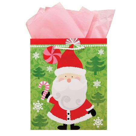 The Gift Wrap Company Santa Storm Med Bag, 1 Ct - Walmart.com