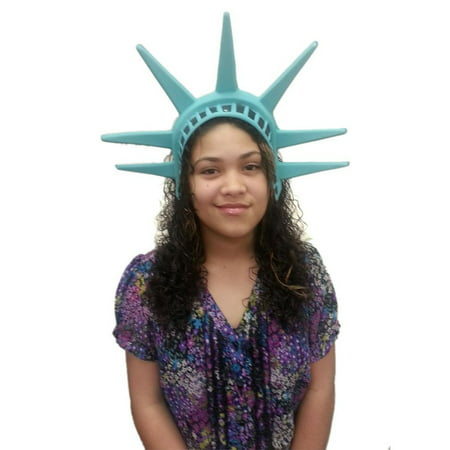 Diy Halloween Headpieces (Statue Of Liberty Headpiece Lady America Patriotic Hat Crown Costume)