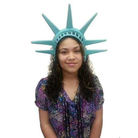 Genie Headpiece Veil (Statue Of Liberty Headpiece Lady America Patriotic Hat Crown Costume)