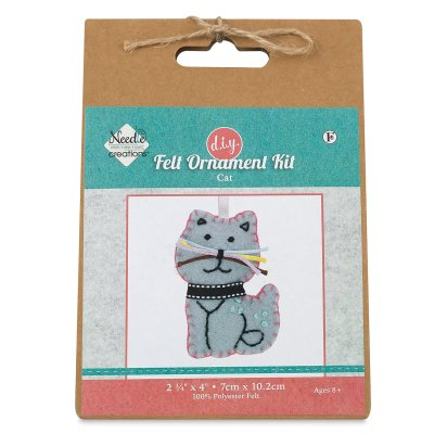 Needle Creations Kit Felt Ornament Blue Cat (Needle Felted Mouse)
