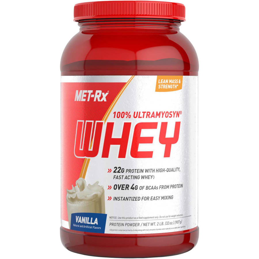 MET-Rx 100% Ultramyosyn Whey Vanilla Protein Powder, 32 oz