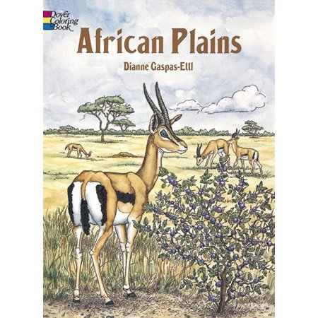 Dover Nature Coloring Book: African Plains Coloring Book (Paperback)
