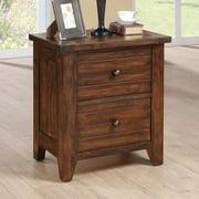 Cally Solid Wood Nightstand - Antique Mocha
