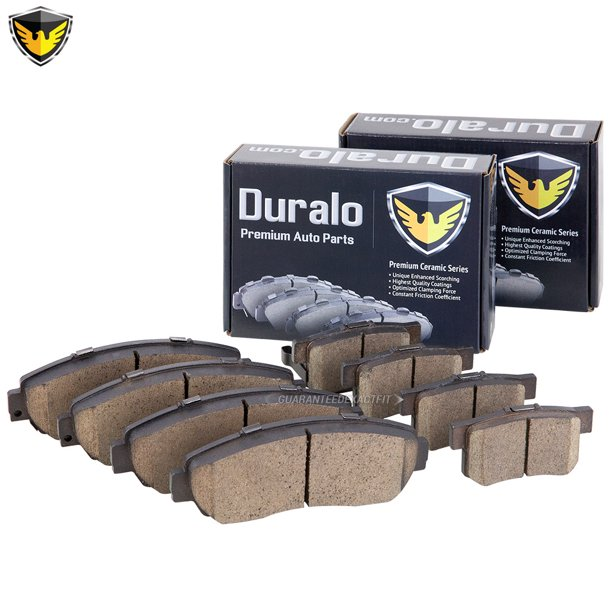 Duralo Front & Rear Brake Pad Set For Acura RDX 2007 2008