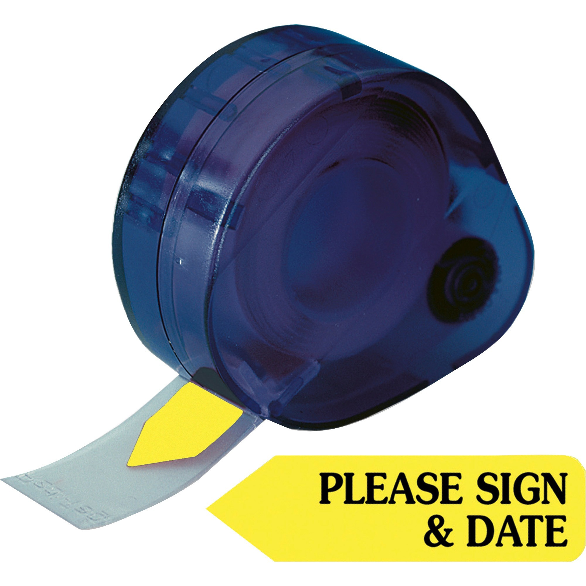Redi-Tag, RTG81124, Please Sign and Date Arrows In Dispenser, 120 / Pack, Yellow