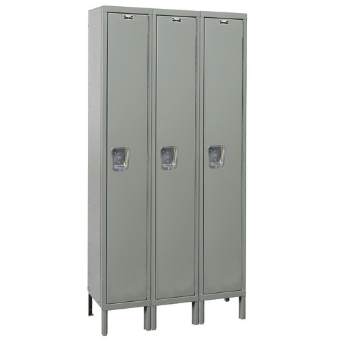 Hallowell Maintenance-Free 1 Tier 3 Wide Quiet Locker