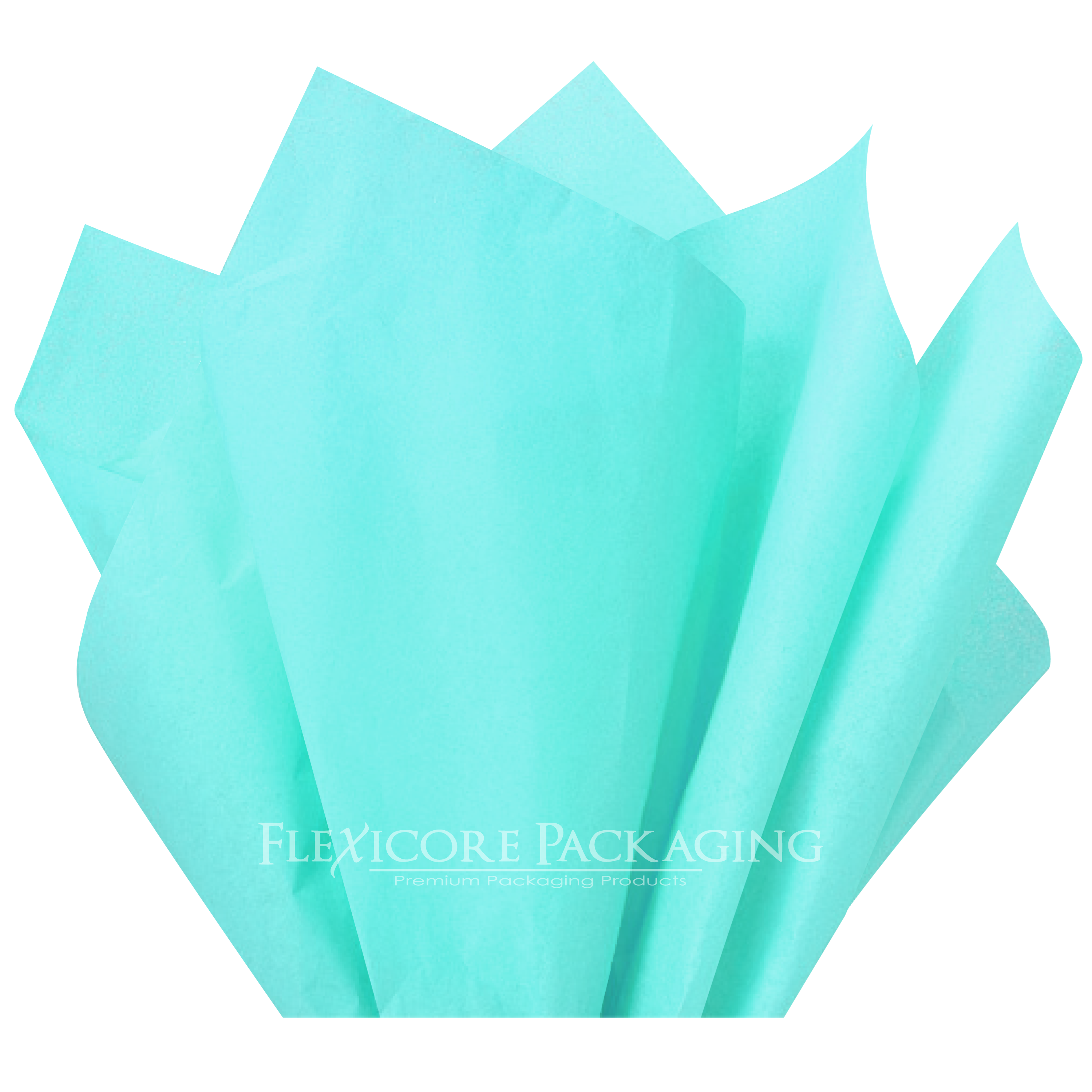 "Aqua Teal Tissue Paper, 15""x20"", 100 ct"