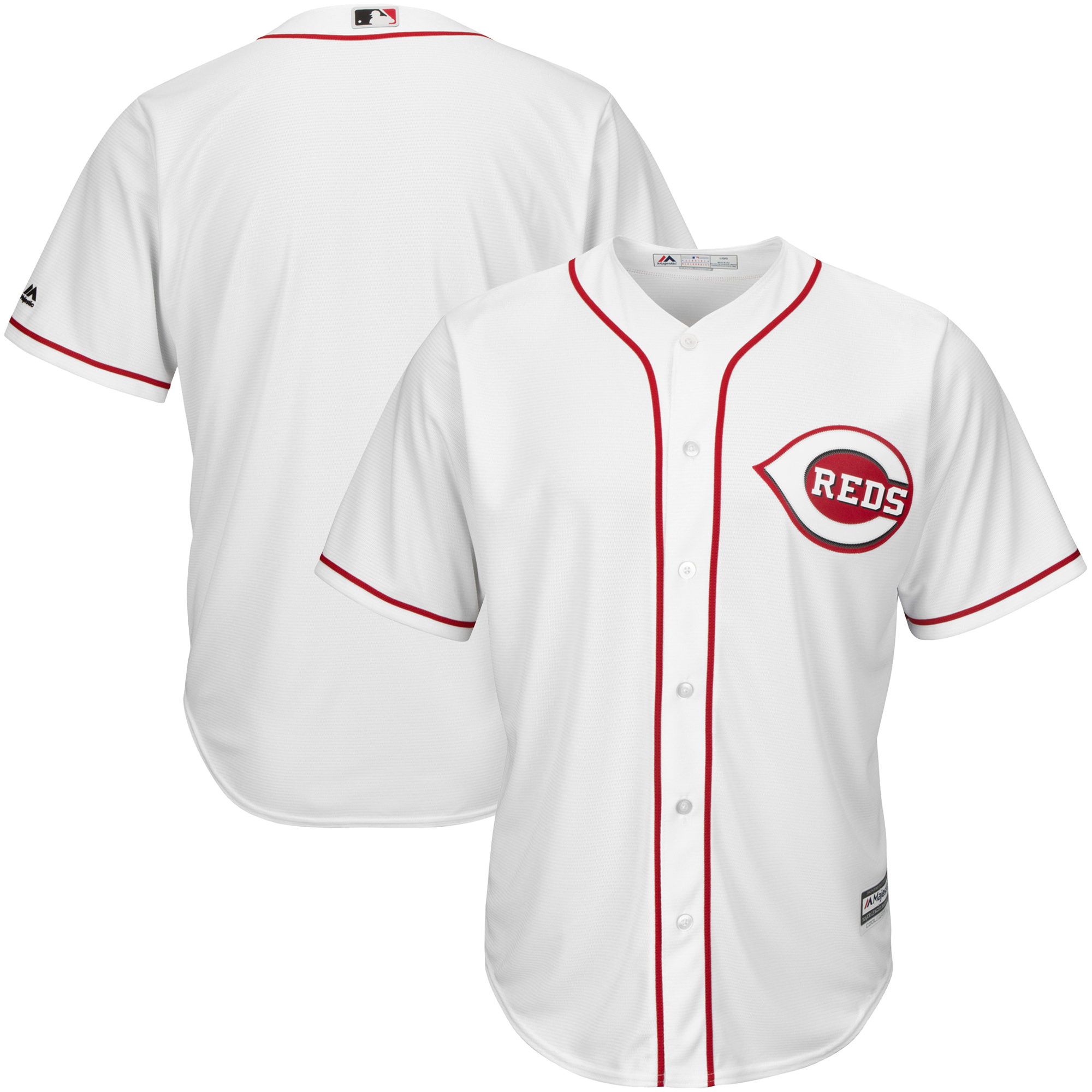 Men's Majestic White Cincinnati Reds Cool Base Jersey by