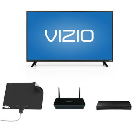 VIZIO 43; 1080p Smart HDTV, NETGEAR Wifi Router, Mohu Leaf Ultimate, Samsung Blu-ray Player Bundle – Cut the Cable