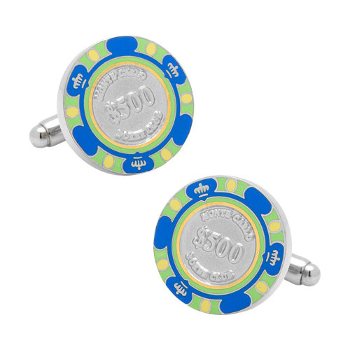 Men's Cufflinks Inc 500 Dollar Poker Chip Cufflinks