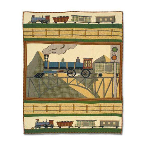 Patch Magic Train Crib Quilt