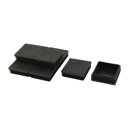Table Desk Chair Plastic Square Shaped Inserts End Blanking Caps Black 8pcs - image 1 of 1