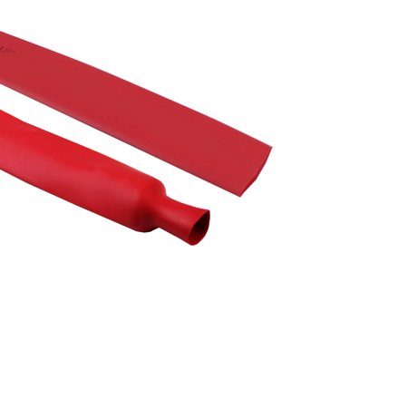 3/4 Inch Red 2:1 Ratio Heat Shrink Tubing Wire Wrap Assorted (18 Ft)