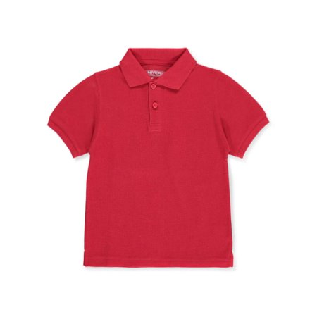 Unisex Boys Girls Short Sleeve Pique Polo Shirt w/Stain Release (2T-20) ()