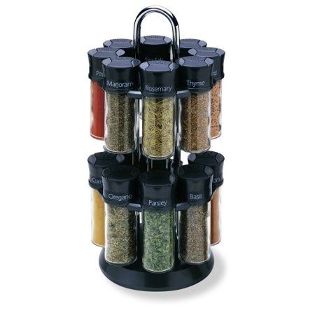 16-Jar Carousel Spice Rack, Includes 16 spices By Olde Thompson Olde Thompson Spice Jars