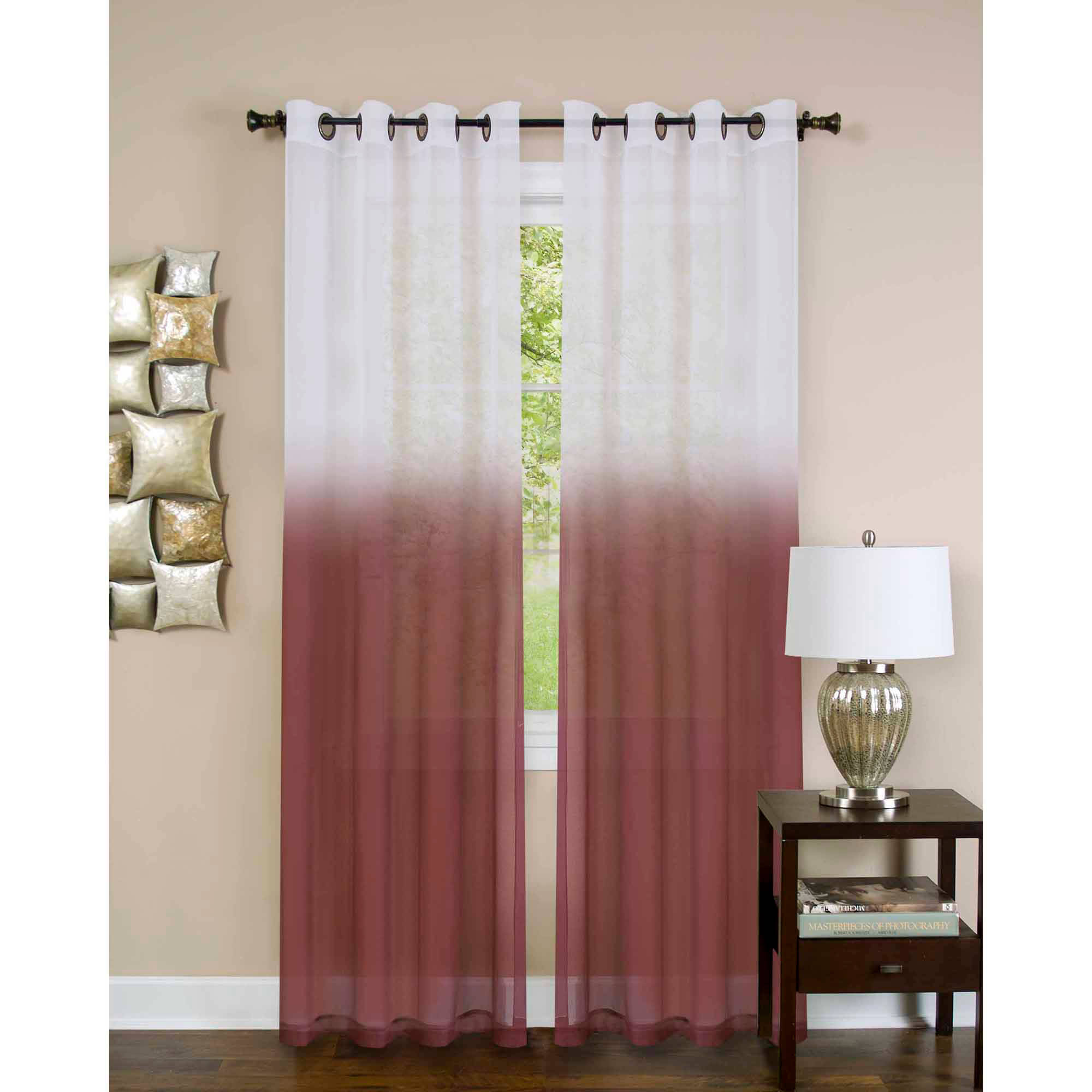 essence grommet curtain panel available in multiple colors and sizes
