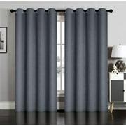 Private Label Susan Blackout Embossed Grommet Curtain Panel Pair