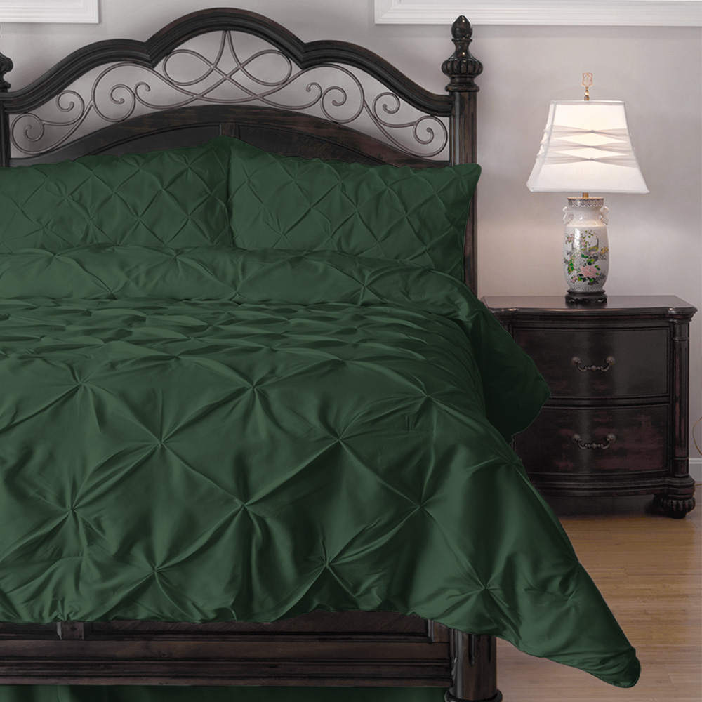 Cozy Beddings - Emerson Pinch Pleat 3-Piece Comforter Set