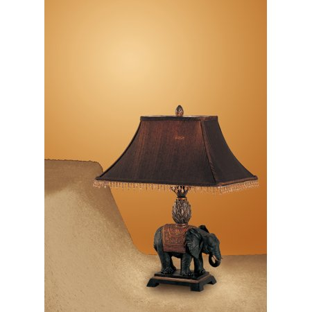 Elephant Design Table Lamp with Shade Set of 2 ()