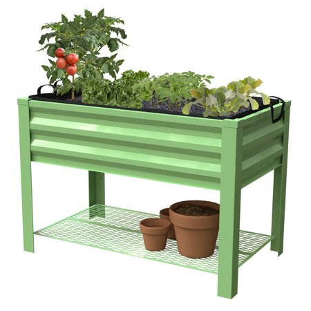 """Raised Planter Bed, Green, 47""""L x 24""""W x 30""""H including stand"""