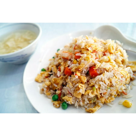 LAMINATED POSTER Fried Rice Chinese Cuisine Restaurant Diet Cuisine Poster Print 24 x