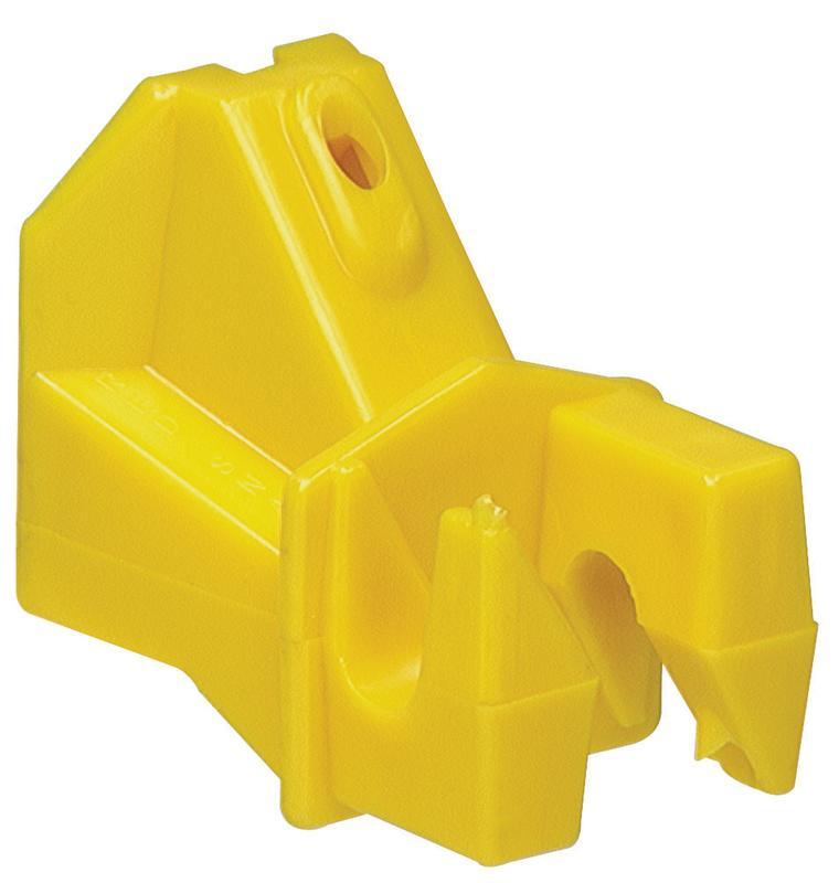 Zareba IWNY-RS Wood Post Insulator, Yellow, Pack of 25