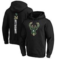 Giannis Antetokounmpo Milwaukee Bucks Fanatics Branded Playmaker Name & Number Pullover Hoodie - Black