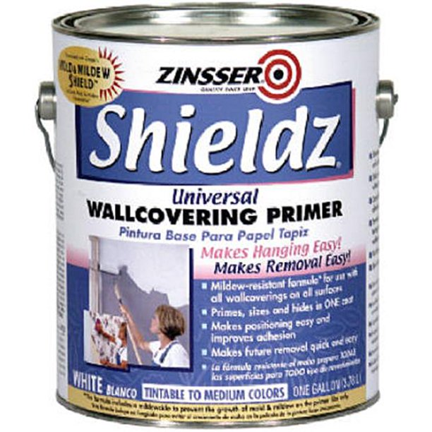 Zinsser Shieldz Universal White Wallcovering Primer For Drywall 1 Gal Case Of 4 Walmart Com Walmart Com