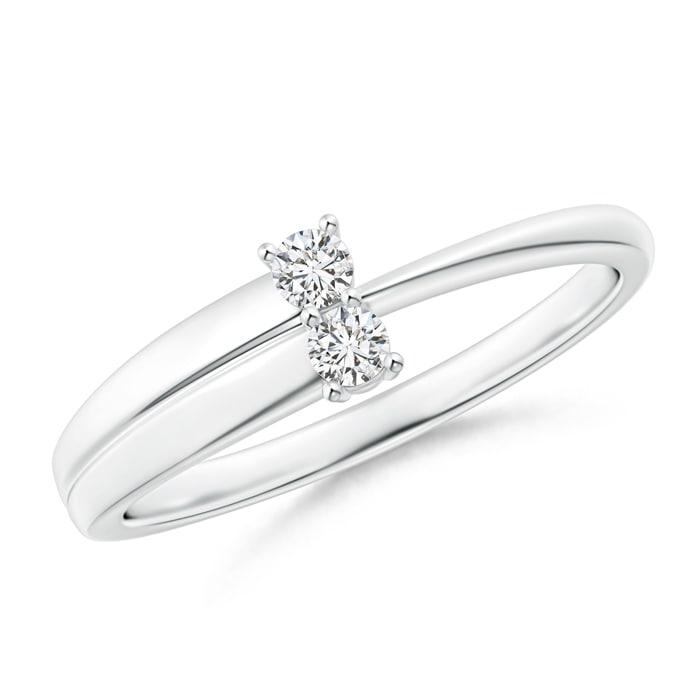 Angara 2-Stone Diamond Anniversary Ring in Prong Setting aVxCkRH