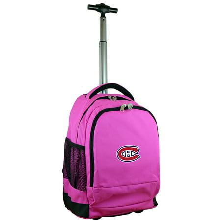 Montreal Canadiens 19 Premium Wheeled Backpack - Pink