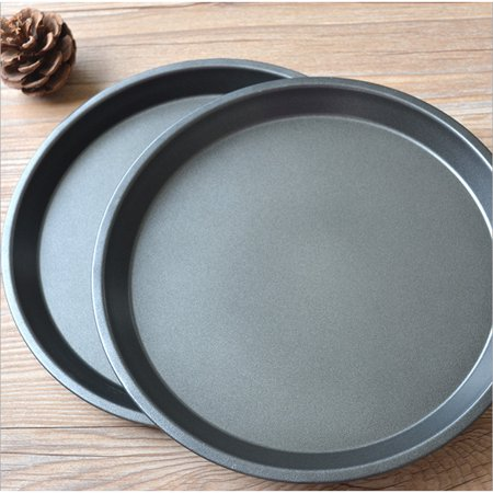 8 Inch/9 Inch Healthy Durable Shallow Pizza Pan Round Dish Non-Stick Pie Tray Kitchen Home Bakeware Carbon Steel 8 inch shallow tray - image 6 of 7