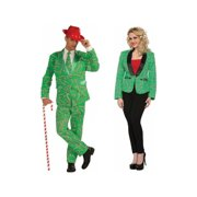 Candy Cane Men Costume and Candy Cane Blazer Women Couples Set