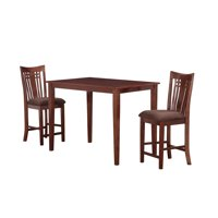 Boraam Jamie 3 Piece Counter Height Pub Set, Multiple Colors