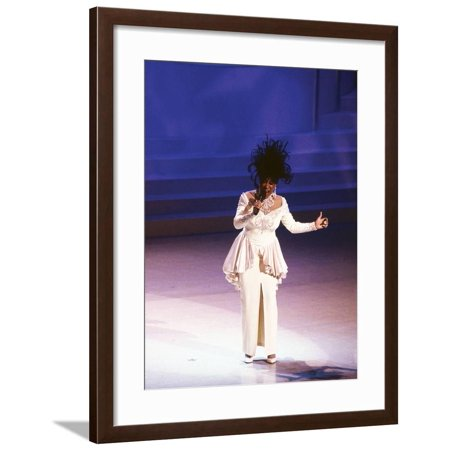 Patti Labelle, New York's Radio City Music Hall, June 22, 1989 Framed Print Wall Art By Frederick Watkins