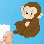 Wallhogs Baby Monkey Cutout Wall Decal