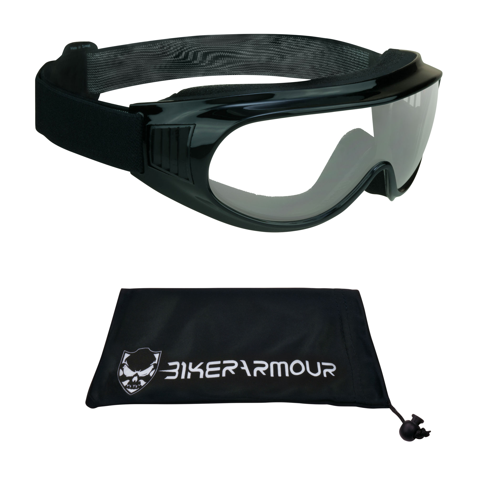 Motorcycle Fit Over Rx Glasses Goggles Clear Safety Polycarbonate lens.