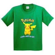 New Way 562 - Youth T-Shirt Pokemon Go Gotta Catch 'Em All Pikachu