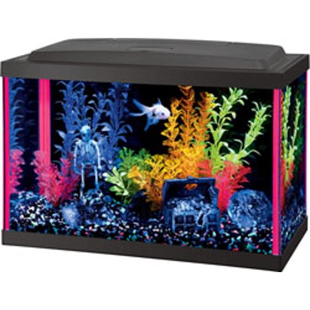 55 Gallon Tank - Aqueon Products-Glass-Aqueon Neoglow Aquarium Kit Rectangle- Pink 5.5 Gallon