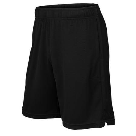 men's knit 9 inch tennis short black Wilson Elastic Waist Shorts