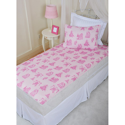 Disney Princess Full Size Non-Quilted Mattress Protector, Pink