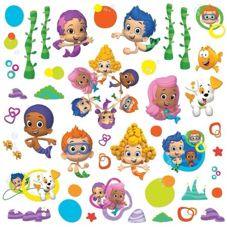 Lunarland BUBBLE GUPPIES 44 BiG Wall Decals DEEMA GIL OONA Room Decor Stickers MERMAIDS, Transform your room with this set of bubble guppies wall stickers By Lunarland Wall Stickers